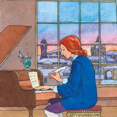 Vivaldi vor dem Kamin