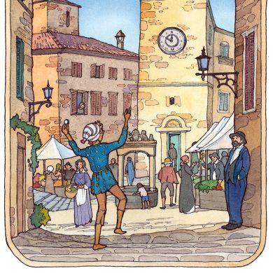 Pinocchio in der Stadt